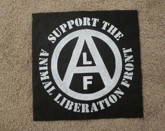 Animal Liberation Front Back Patch - Print, Screen Print, Punk, Patch, Stencil, Art, Hardcore.