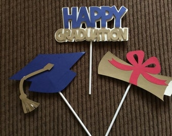 Graduation Cupcake Toppers, Graduation Party Decoration,Graduation Decoration, Graduation Supplies