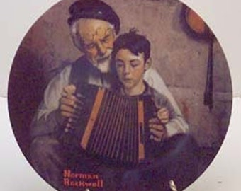 Norman Rockwell Plate Vintage 1977 The Toy Maker Knowles