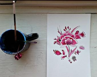 Dutch Flower Oval Sticker