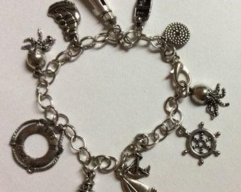 by the sea charm bracelet