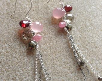 Gemstone earrings in Sterling Silver