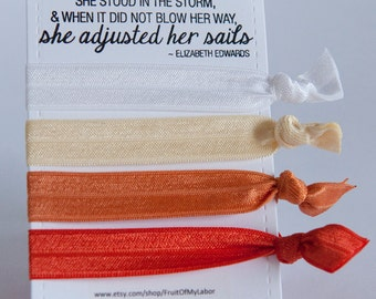 Set of Four Elastic Hair Ties - University of TN