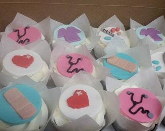Nurses Fondant Cupcake Toppers