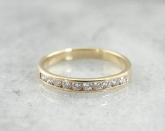 Vintage Gold And Diamond Channel Set Wedding Ring V07ZVM-P