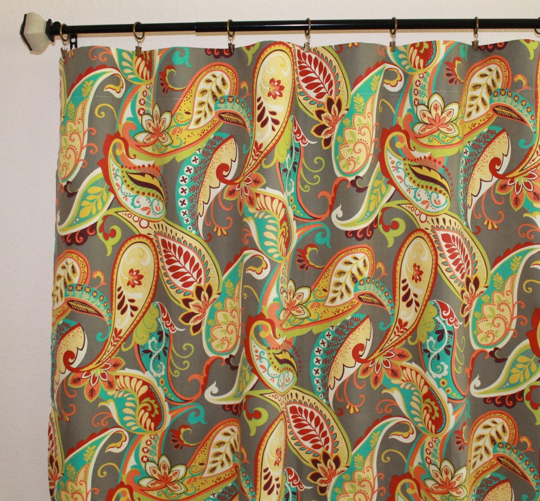 Paisley curtains pottery barn -  Zoom