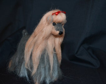 Needle Felted Yorkie, Yorkie Collectable