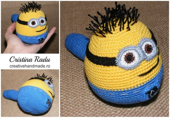 Items similar to Minion stress ball, toy minion, amigurumi ...