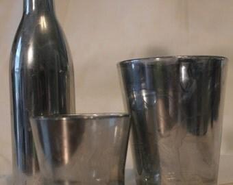 Mercury Glass Vase Set