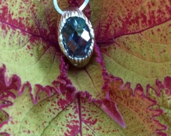 """Gorgeous Blue Stone Sterling Necklace 17"""""""