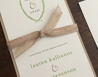 Vintage Wedding Invitation Suite // Rustic and Vintage // Twine and Burlap // Purchase this Deposit to Get Started