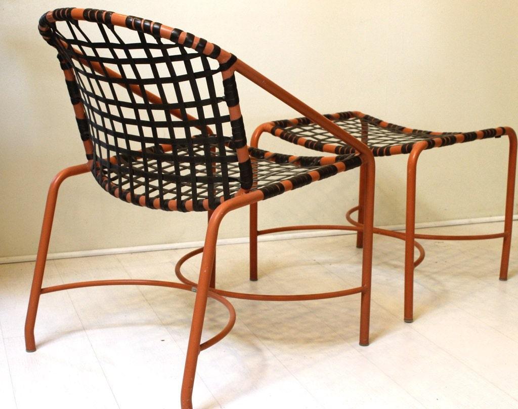 Kantan Chair And Ottoman Set By Brown Jordan Original Mid