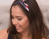 American Flag Tie Headband