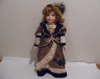 """Vintage Tuss Inc. Porcelain Doll 16"""" From William Tung Collection"""