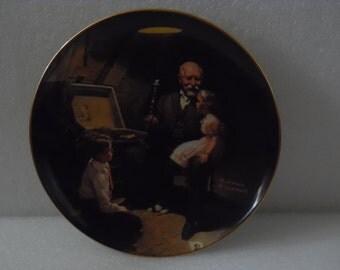 "Norman Rockwell ""Gandpa's Treasure Chest"" Collector Plate"