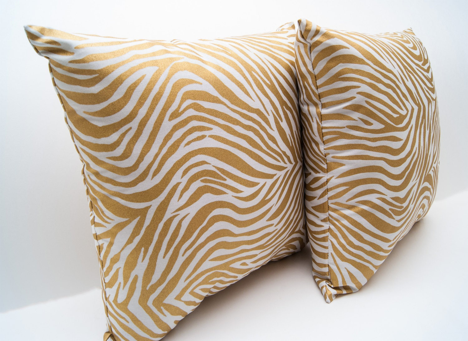 Throw Pillow Metallic Zebra Print Throw Pillow Accent