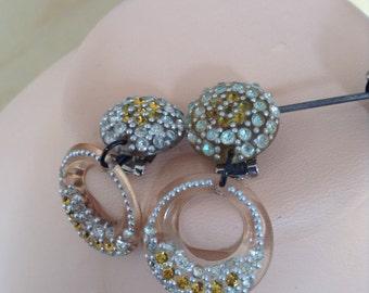 40s clip on ear rings