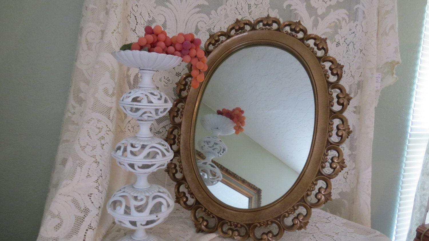Ornate baroque mirror mid century wall home decor by for Baroque home accessories