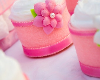 Baby Girl Baby Shower Favors, Pink Baby Shower Favors, It's a Girl Diaper Cake Cupcakes