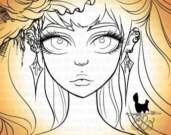 Digital stamp- TheEastWind Witchery -300dpi jpeg/png files - MAC0199