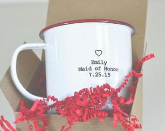 Bridesmaid's Custom Enamel Mugs