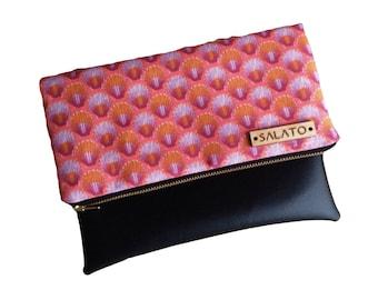 Sunrise Shell Print Clutch, Shell Clutch,  Clutch, Vegan Leather, small purse, leather clutch