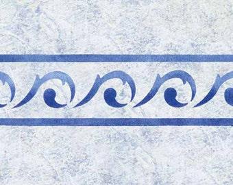 Scroll Border Stencil