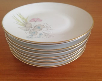 Rosenthal Parisian Spring Appetizer Plates - Set of 8