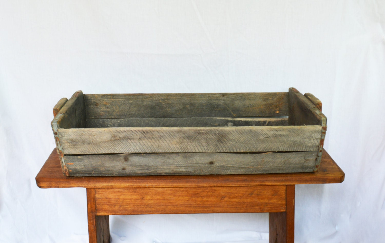 Rustic Wooden Box Vintage Gardening Trug Rustic Wooden