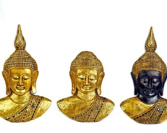 Good Quality Hand Carved Wooden Buddha Masks from Thailand