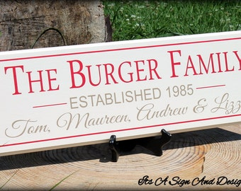 30th Anniversary Gift for Parents, Anniversary Party, 5 Year Anniversary Wood, Blended Family Wedding, Blended Family Sign, Wedding Gift