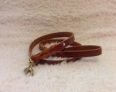 4 Ft. Chestnut braided leather leash