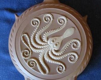Antique Mid Century Art Pottery Octopus Vase