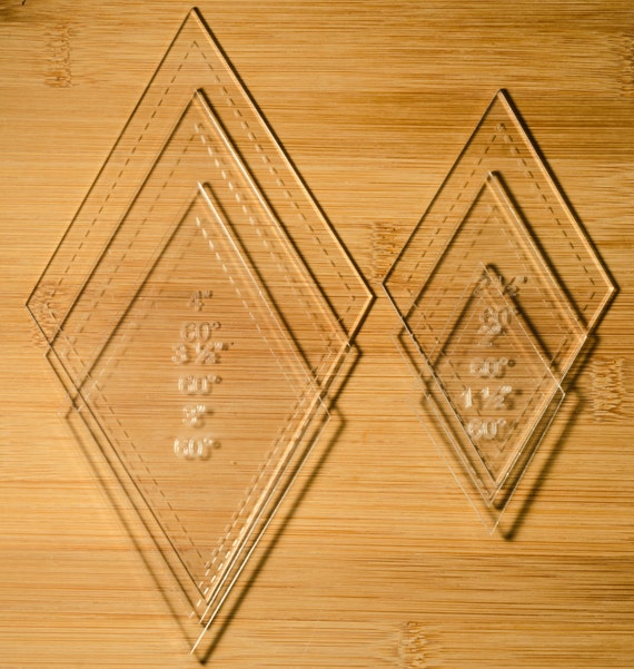 1/8 Clear Acrylic Laser Cut Quilting Templates by TJslaserandphoto