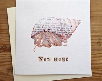 New Home - Hermit Crab Greeting Card