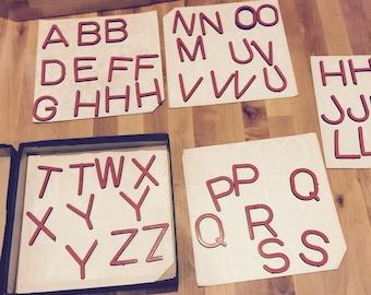 Vintage magnetic letters