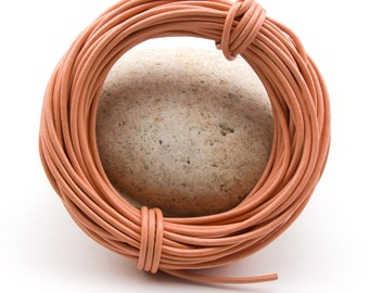 Peach Natural Round Leather Cord 1.5mm 25 meters (27.34 yards)