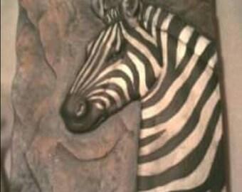 Ready to Paint Zebra Plaque