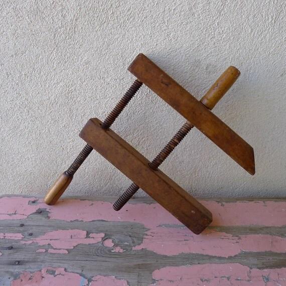 Collectors Antique wooden furniture brace clamp large