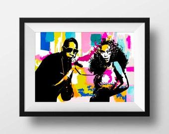 Beyonce poster print, Jay z poster print - Beyonce Print -- Music Wall decor