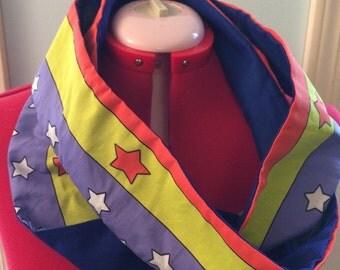 Wonder Woman inspired superhero infinity scarf