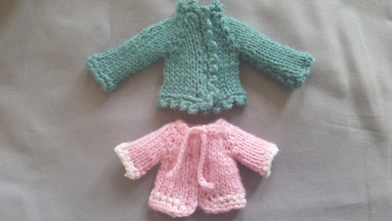 Knitted Cardigan Sweater Pattern for Rescued Dolls ...