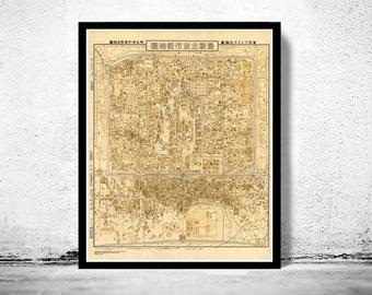 Vintage Map of Beijing China Peking 1948