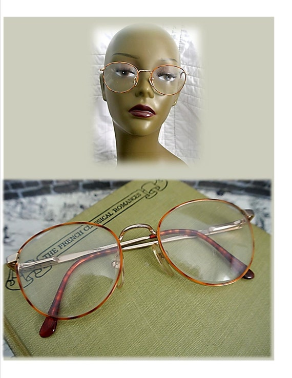 Vintage Eyeglasses GUESS Tortoise Shell Wire Rim Glasses