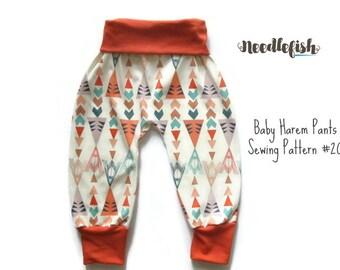 KIDS HAREM PANTS Sewing Pattern - Baby Harem pants - Toddler Harem Pants -