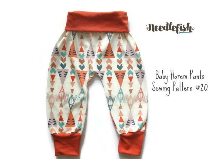 Kids harem pants sewing pattern baby harem pants toddler for Harem pants template