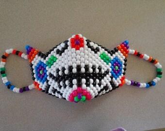 White Sugar Skull Kandi Mask