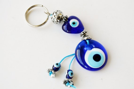 Cool keychain for good luck turkish greek evil eye kabbalah for What does porte mean