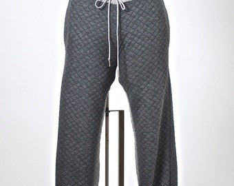 Dark Grey Quilted Jogger with Light Grey Panel