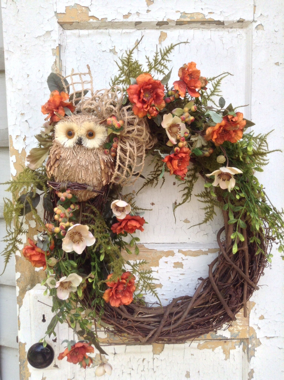 Fall Wreath For Door Fall Owl Wreath Front Door Wreath